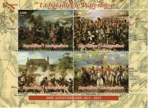 Malagasy Republic 2015 The Battle of Waterloo (1815) Sheetlet (4) Perforated MNH
