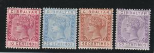 GIBRALTAR 1889 QV RANGE TO 50C