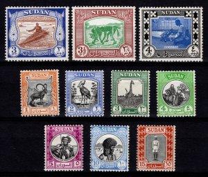 Sudan 1951-61 Various Designs Part Set (excl. 2p, 5p+) [Mint]