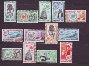 J22693 Jlstamps 1961 sierra leone set mnh #208-20 designs