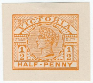 (I.B) Australia - Victoria Revenue : Stamp Duty ½d (postal cut-out)