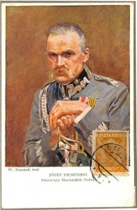 90074  - POLAND - Postal History - MAXIMUM CARD - JOSEF PILSUDSKI Politics 1938