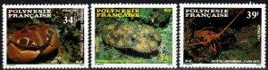 French Polynesia #455-7  MNH CV $6.50 (X2340)