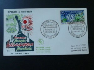 meteorology world day for food production FDC Upper Volta 1962