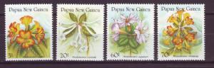 J18777  jlstamps 1989 p.n.g. mnh set #703-6 flowers
