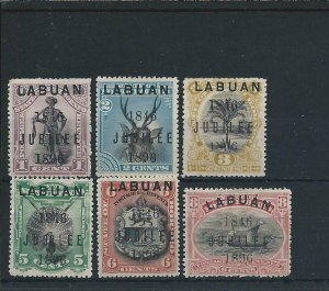 LABUAN 1896 JUBILEE SET OF SIX MM SG 83/8 CAT £250