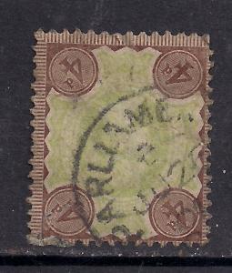 GB 1887 - 92 QV 4d Green & Brown Jubilee ( F939 )