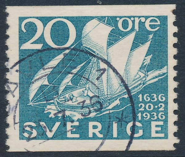 Sweden Scott 254 (Fa 249), 20ö pale blue Post Office, F-VF U