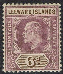 LEEWARD ISLANDS 1905 KEVII 6D WMK MULTI CROWN CA