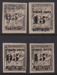 Martinique 1892 SC 22-25 Mint Set