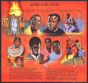 Lesotho. 1998. Small sheet 1320-27. African cinema, movie plots. MNH.