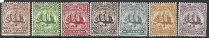 Turks and Caicos 1900-1904 SC 1-9 Mint SCV$ 150.00 Set