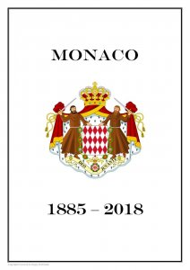 MONACO 1885 - 2018  PDF (DIGITAL) STAMP  ALBUM PAGES  (452 pages)