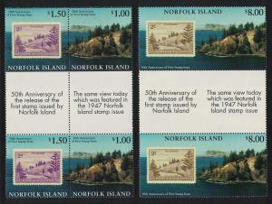 Norfolk 50th Anniversary of Norfolk Island Stamps 3v Gutter Pairs SG#644-646
