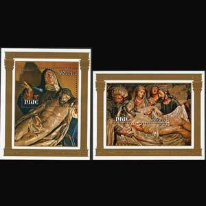 NIUE 1979 - Scott# B6-7 S/S Easter-Paintings NH