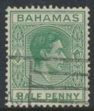 Bahamas SG 149 green SC# 100 Used  1938 definitive wmk script see details