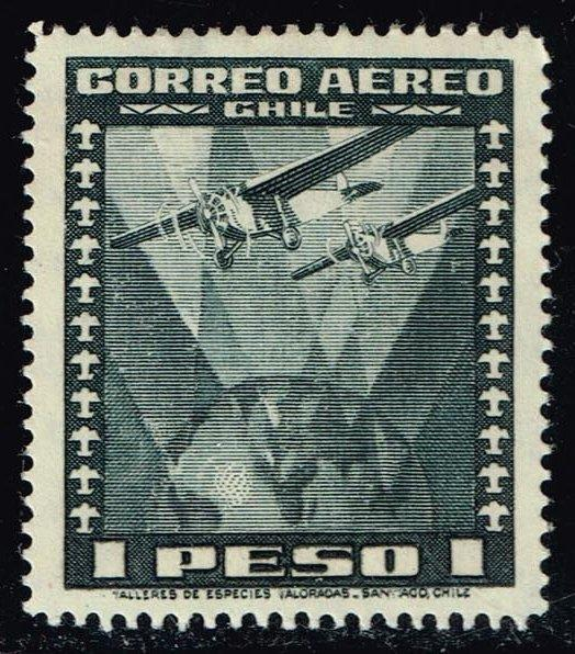 Chile #C39 Two Airplanes over Globe; Unused (0.25)
