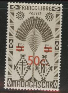Madagascar Malagasy Scott 261 MNH** overprint