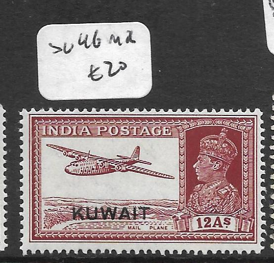 KUWAIT  (PP0902B) ON INDIA KGVI 12A AIRPLANE  SG 46   MOG