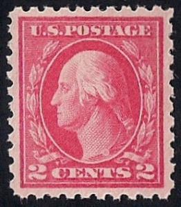 425 2 cent Washington Stamp mint OG NH EGRADED SUPERB 98 XXF