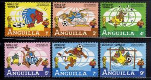 ANGUILA/ANGUILLA 1982 MNH SC.492/497 World Cup Spain,Disney