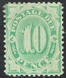 AUSTRALIA 1902 POSTAGE DUE 10D WMK CROWN/NSW PERF 11.5,12