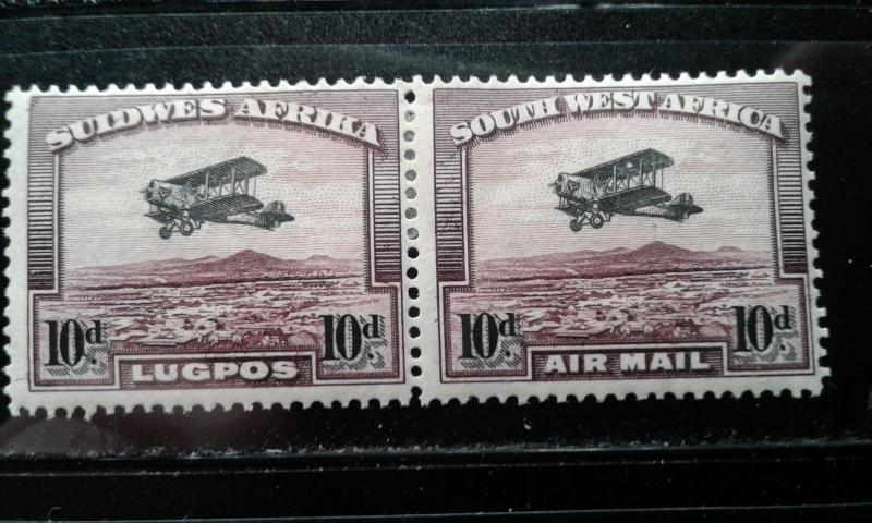 South West Afr #C6 mint hinged pair e1812.2847