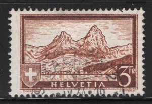 Switzerland 1931 3F Orange Brown Mythen Sc# 209 used