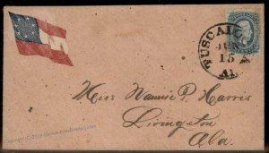 CSA #11 Civil War Confederate Cover Tuscaloosa Alabama Patriotic 92709