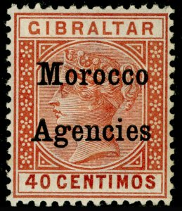 MOROCCO AGENCIES SG13, 40c Orange Brown, M MINT. Cat £50.