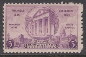 1936 Arkansas Centennial 3c SC#782 MNH