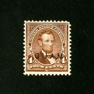 Guam Stamps # 4 VF Fresh OG LH Catalog Value $125.00