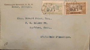 O) 1914 SENEGAL WEST COAST OF AFRICA, SENEGALESE PREPARING FOOD, CONSULAR SERVIC
