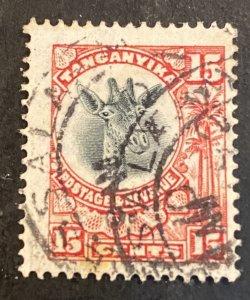 Tanganyika Scott 14 Giraffe 15 Cent Definitive-Used