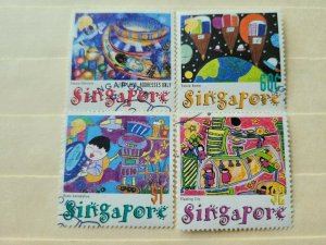 SINGAPORE 2000 STAMP EXHIBITION - STAMPS 2000 IN FINE CTO  CONDITION