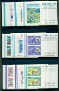 KOREA #738a-46a Complete set, Economic Development, s/s, og, NH, VF, Scott $54.