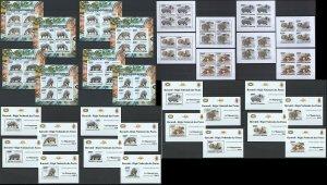BU01 IMPERF,PERF 2011 BURUNDI FAUNA WILD ANIMALS HIPPOPOTAMUS !!! 16KB+16BL MNH