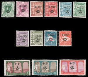 ALGERIA #B1-B13 MLH 1927 SEMI-POSTAL SURCHARGE SET CV$260