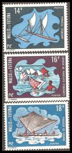 Wallis & Futuna Islands 179-181 Mint VF HR