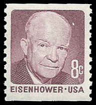 PCBstamps   US #1402 8c Ike, coil perf vert., 1971, MNH, (11)
