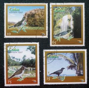 CUBA Sc# 3861-3864 PINAR DEL RIO BIRDS Complete set of 4 1997 used / cancelled