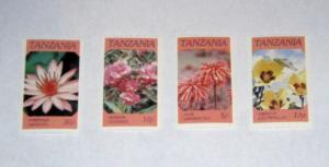 Tanzania - 315-18, MNH Set. Indigenous Flowers. SCV - $1.25