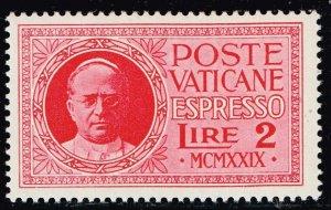 ITALY VATICAN CITY STAMP #E1 1929 Express Stamp 2L MNH/OG