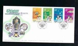 STAMP STATION PERTH Hong Kong # Scouts FDC 1998 VFU