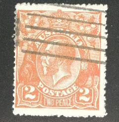 AUSTRALIA Scott 27a used orange