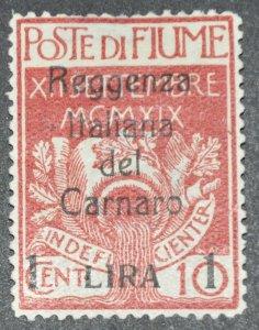 DYNAMITE Stamps: Fiume Scott #117 – MINT hr