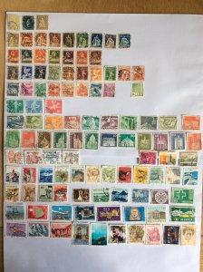 Switzerland 100+ stamps - Lot F