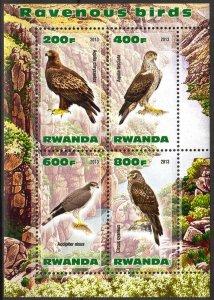 Rwanda 2013 Ravenous Birds (4) MNH Cinderella !