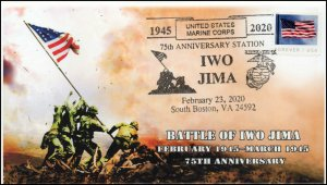 20-036, 2020, Iwo Jima, Pictorial Postmark, Event Cover, 75th Anniversary,