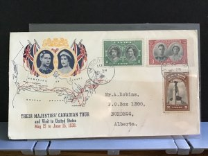 Canada 1939 Royal Canadian Tour   stamps cover R31631
